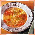 Греческий лимонный суп с морковью, луком и укропом