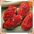 Тосты с помидорами и анчоусами