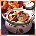 Густой суп из мяса и овощей