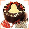 Шоколадний різдвяний торт