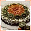 Торт з карликовими апельсинами та ківі