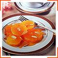 Карамелизовани апельсины с жареным миндалем