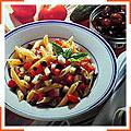 Пенне з моцареллою та оливками