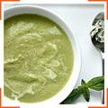 Овощной крем-суп с базиликовым маслом