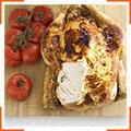 Курица с кремовым сыром и запеченными томатами