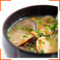 Суп мисо с моллюсками и грибами