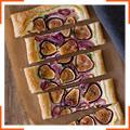 Пиріг з інжиром і карамелізованою червоною цибулею