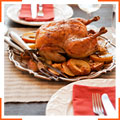 Запеченная курица с корицей и яблоками