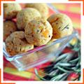 Шарики с розмарином, абрикосами и пастой тахини