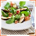 Салат с инжиром и водяным крессом