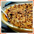 Тыквенное пюре с греческими орехами, амаретти и коричневым сахаром