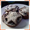 Рождественские шоколадные пирожные
