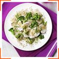 Коричневий рис з місо і курячим салатом