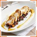 Жаренные морские гребешки со сквошем и теплым салатом
