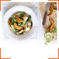Запеченная тыква с перцем чили и овощами