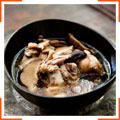 Куриный суп с имбирем и грибами шиитаке