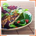 Салат с тофу-гриль и заправкой с мисо-пастой