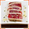 Жареный тунец с розмариновым маслом