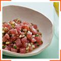 Тартар с тунцом и бельгийским салатным цикорием