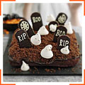 Хэллоуиновский торт-кладбище