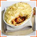 Зимовий овочевий пиріг з картопляним топпінгом