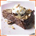 Блинный торт с шоколадом и миндалем