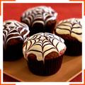 Шоколадные маффины с паутинкой