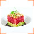 Тартар из тунца с авокадо под соево-кунжутным соусом