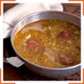 Пряный суп с капустой и чоризо