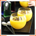 Апельсиновое желе с шоколадной паутинкой