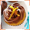 Апельсинові капкейки з подвійною шоколадною глазур'ю