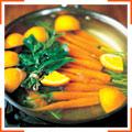 Морковь с тимьяном, зирой и апельсиновым сливочным маслом