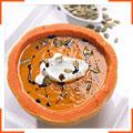Вершковий крем-суп з гарбуза з ароматом олії з гарбузового насіння