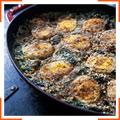 Гратен со шпинатом и яйцами