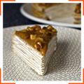 Бананово-ванильный блинный торт с греческими орехами