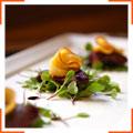 Сердце ягненка с персиками и бальзамическим уксусом