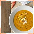 Суп из сквоша, чили и крем-фреш