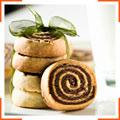 Песочное печенье-рулетики с шоколадом