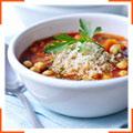 Пряный томатный суп с кускусом