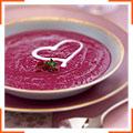 Суп із печеного буряка з крем-фреш