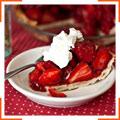 Пиріг зі свіжими полуницями