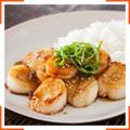 Морские гребешки в горчичном соусе с мисо
