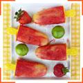 Клубнично-лаймово-ананасовые попсиклс