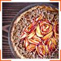 Пиріг з чорницею і нектаринами