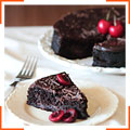 Шоколадно-вишневый торт