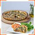Пирог с помидорами, сыром и песто