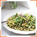 Салат с желтой спаржевой фасолью
