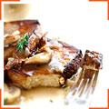 Жареный тофу с грибной подливкой
