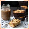Порционные яблочно-имбирные пирожные из цельнозерновой муки