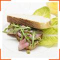 Сандвичи с ветчиной и песто